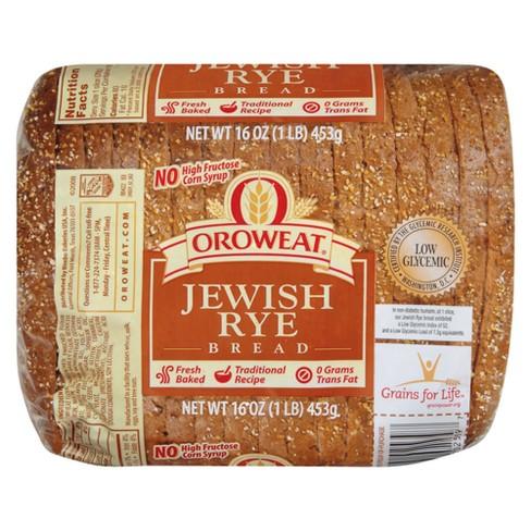 Oroweat Jewish Rye Bread - 16oz - image 1 of 1
