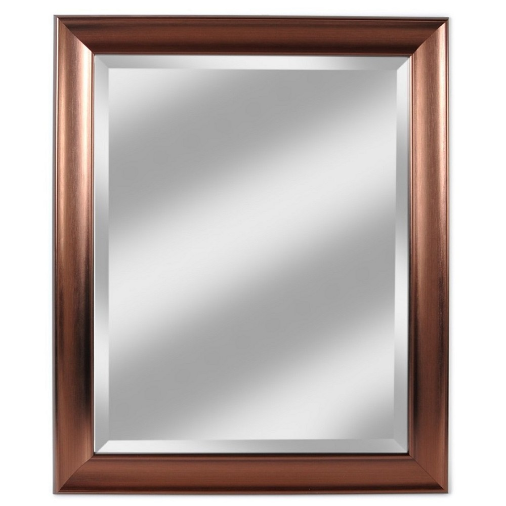 "Image of ""28"""" X 34"""" Concept Bronze Framed Beveled Glass Mirror - Alpine Art and Mirror"""