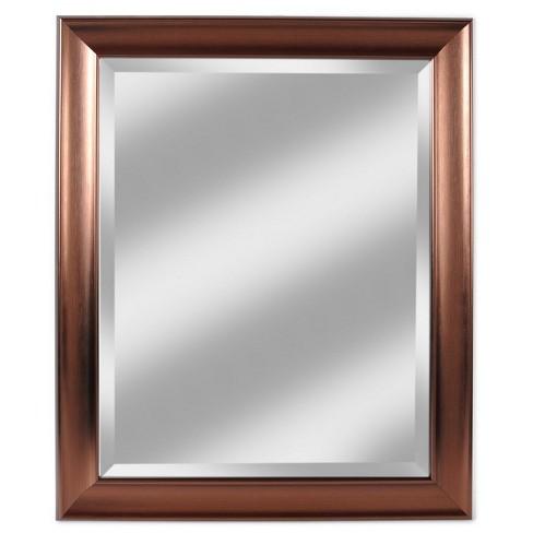 28 X 34 Concept Bronze Framed Beveled Gl Mirror Alpine Art And
