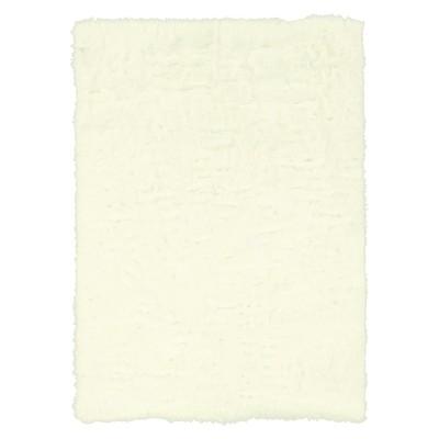 Faux Sheepskin Area Rug - White (5'x7')