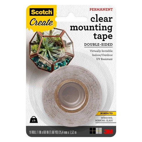 Scotch Mounting Tape Permanent Double Sided Clear Target