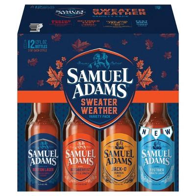 Samuel Adams Sweater Weather Seasonal Variety Pack - 12pk/12 fl oz Bottles