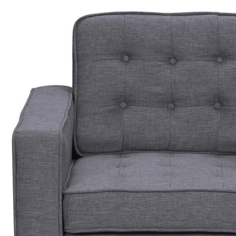 Chandler Contemporary Sofa Chair Dark Gray - Armen Living : Target