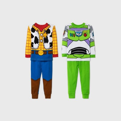 Toddler Boys' 4pc Toy Story Pajama Set - Blue/Yellow/Green 12M