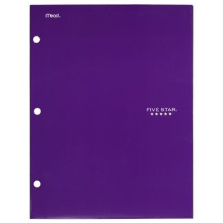 Five Star 4 Pocket Paper Folder Purple