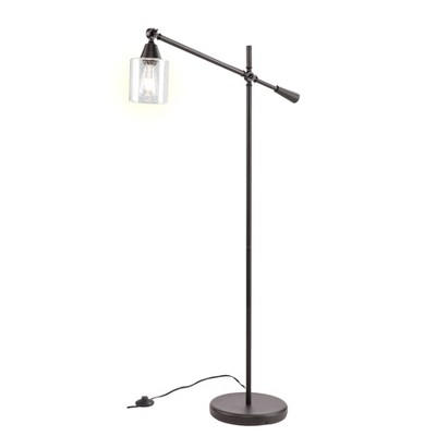 Balor Floor Lamp Black (Includes Energy Efficient Light Bulb)- Aiden Lane