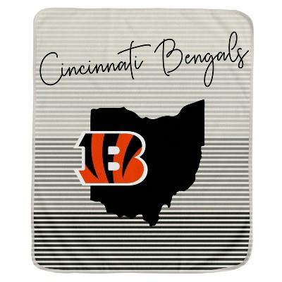 NFL Cincinnati Bengals Ultra Fleece State Stripe Blanket
