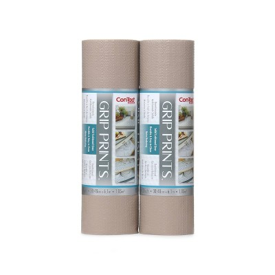 """Con-Tact Grip Prints 2pk 12""""x20' Taupe"""
