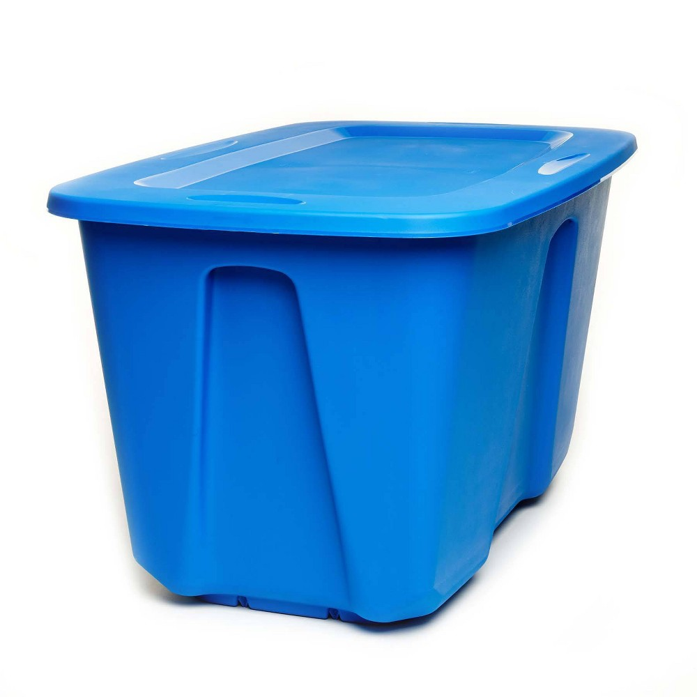 Image of 2pk 32gal Storage Tote - Homz, Blue