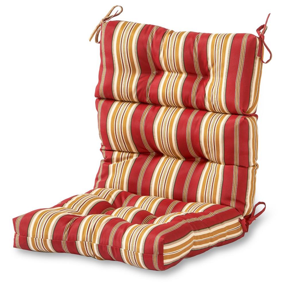 Roma Stripe Outdoor High Back Chair Cushion Kensington Garden