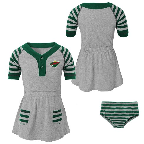 sports shoes 97468 4ff88 Minnesota Wild Girls' Infant/Toddler Striped Gray Dress - 3T