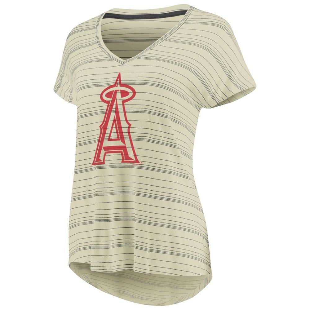 Los Angeles Angels Women's Starting Strong Cream Versalux T-Shirt - S, Beige