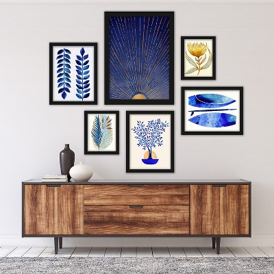 Americanflat 6 Piece Black Framed Gallery Wall Set 3 by Modern Tropical
