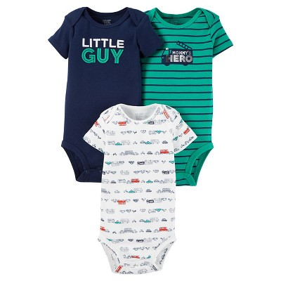 Just One You™ Made by Carter's® Baby Boys' 3pk Short Sleeve Little Guy Bodysuit Set - 6M