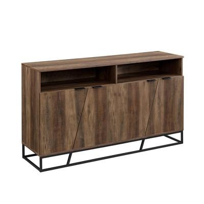 "58"" Leo Contemporary Storage Console Sideboard Reclaimed Barnwood - Saracina Home"