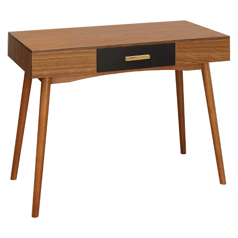 Oslo 1 Drawer Desk Cherry - Johar - image 1 of 4