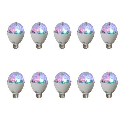 AudioPipe Zebra Sound LED 5 Volt 1 Watt DC Motor Magic Disco Light Bulb (10 Pack)