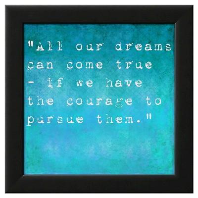 Art.com Framed Wall Poster Print Inspirational Quote By Walt Disney - Blue