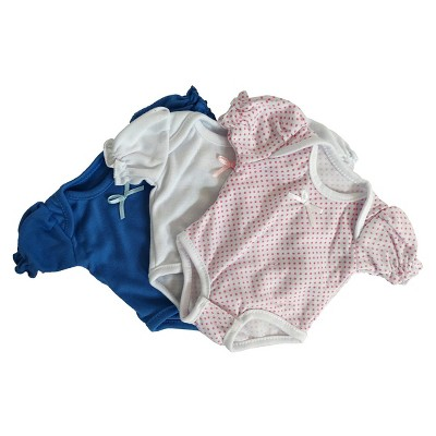"""The Affiliates Baby's One Piece Outfits for 14"""" Dolls - Set of 3"""