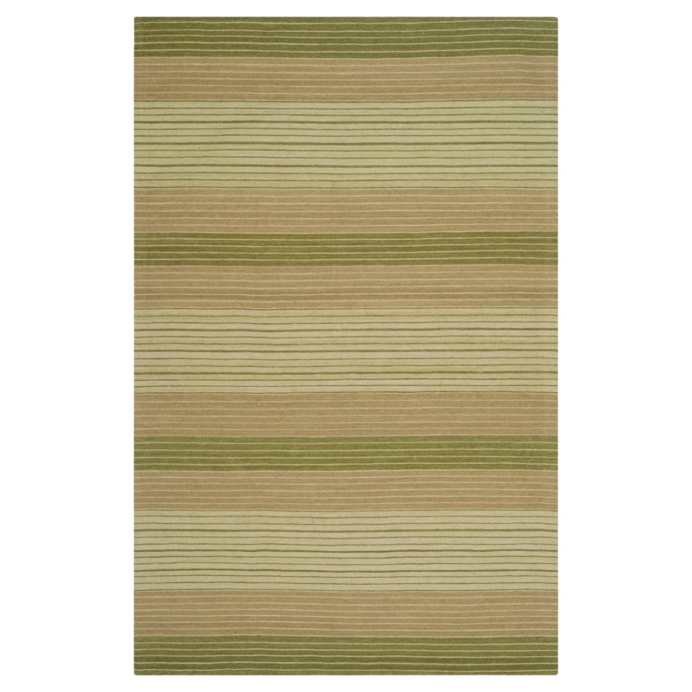 Green Stripes Woven Area Rug - (4'x6') - Safavieh