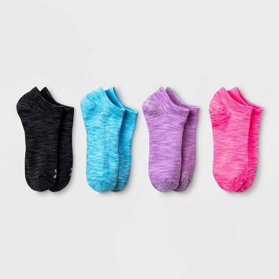 Women's Spacedye Lightweight 4pk No Show Athletic Socks - All in Motion™ 4-10