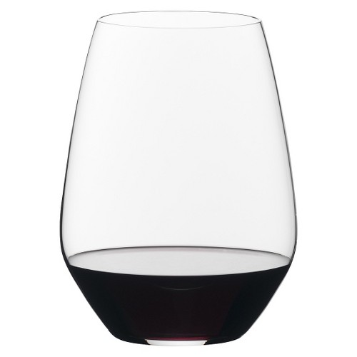 Riedel Vivant 22.3oz 2pk Merlot Stemless Wine Glasses, Clear
