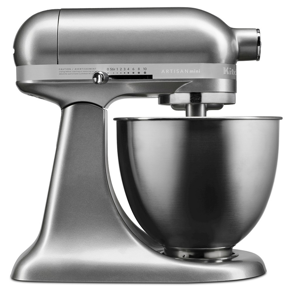KitchenAid Artisan Mini 3.5qt Tilt-Head Stand Mixer – KSM3311XCU, Contour Silver 51003061