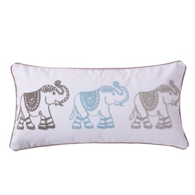 Gramercy Embroidered Elephants Decorative Pillow - Levtex Home