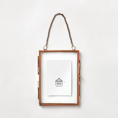 """3.5"""" Photo Frame Ornament Antique Copper - Hearth & Hand™ with Magnolia"""