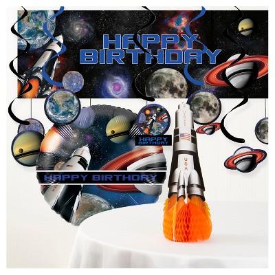 Space Blast Birthday Party Decorations Kit