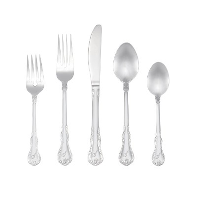 RiverRidge 46pc Personalized Silverware Set Bouquet Pattern - S