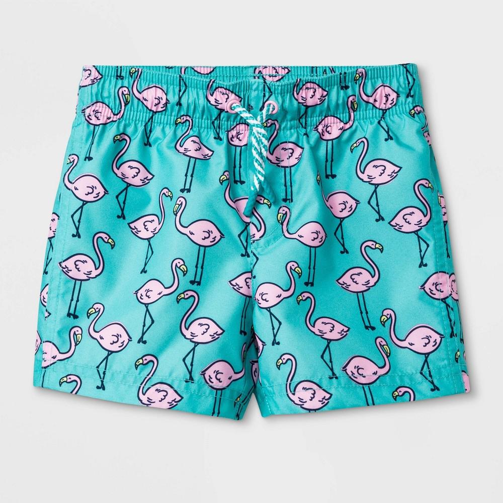 abb174dbefb4a Baby Boys Flamingo Print Swim Trunks Cat Jack Aqua 18M Pink