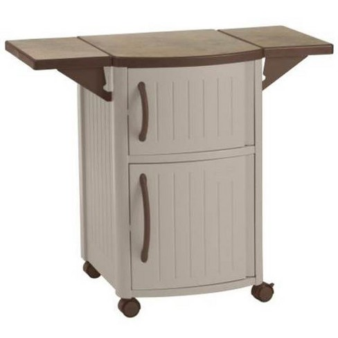 Suncast DCP2000 Portable Outdoor Patio Prep Serving Station Table and Cabinet - image 1 of 4