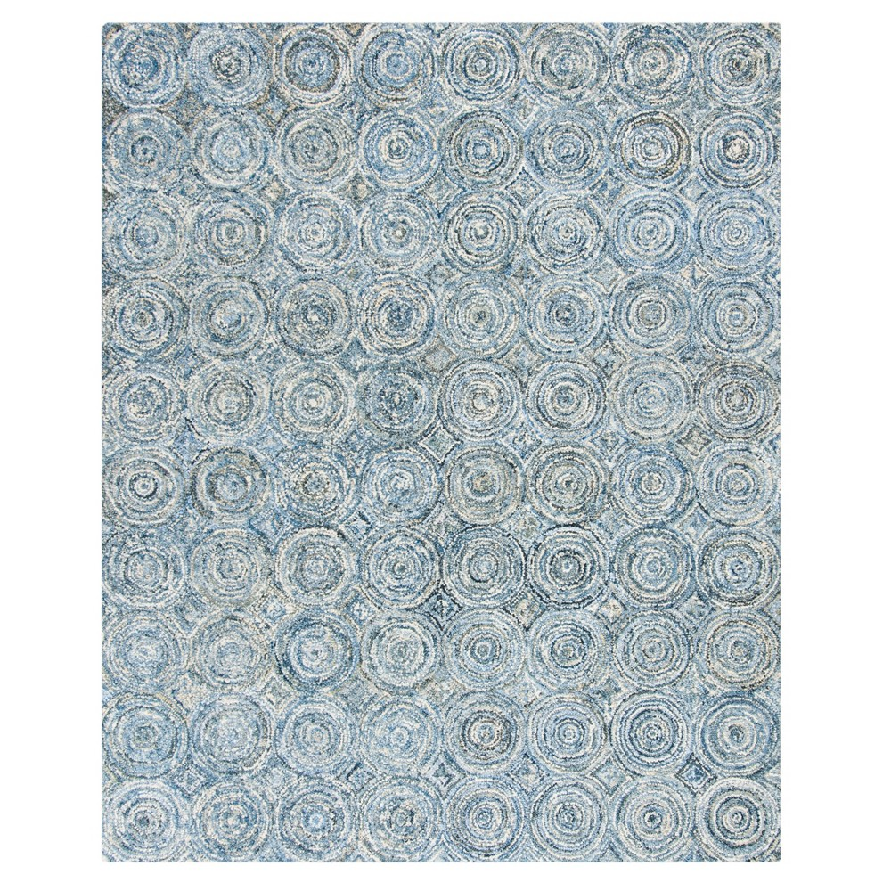 Blue Swirl Tufted Area Rug 8'X10' - Safavieh
