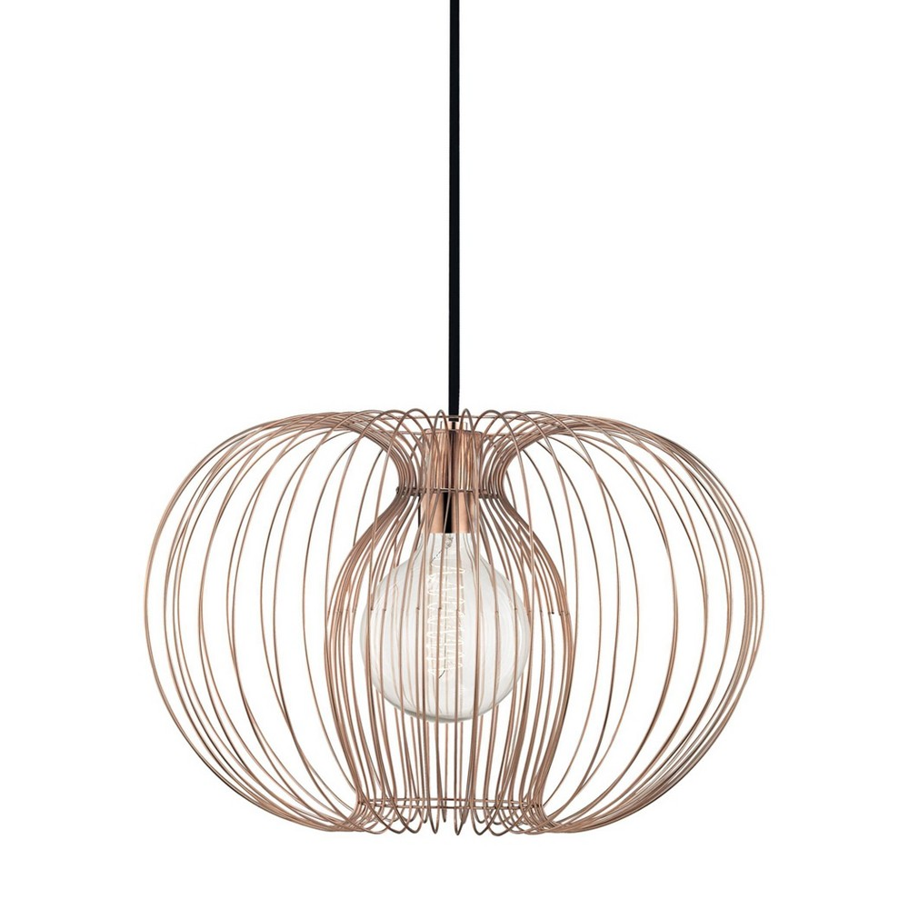 Jasmine 1-Light Large Pendant Chandelier Polished Copper - Mitzi by Hudson Valley Price