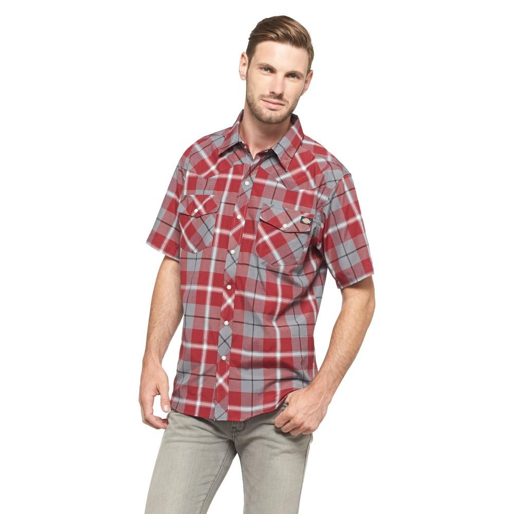 Dickies Men's Big & Tall Classic Fit Shirt - Aged Brick 4XL, Red