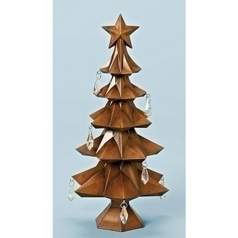 Roman 11 Brown Tabletop Christmas Tree With Star And Jewels