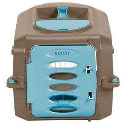 Suncast Personalizable Deluxe Small Pet Carrier with Food & Water Tray