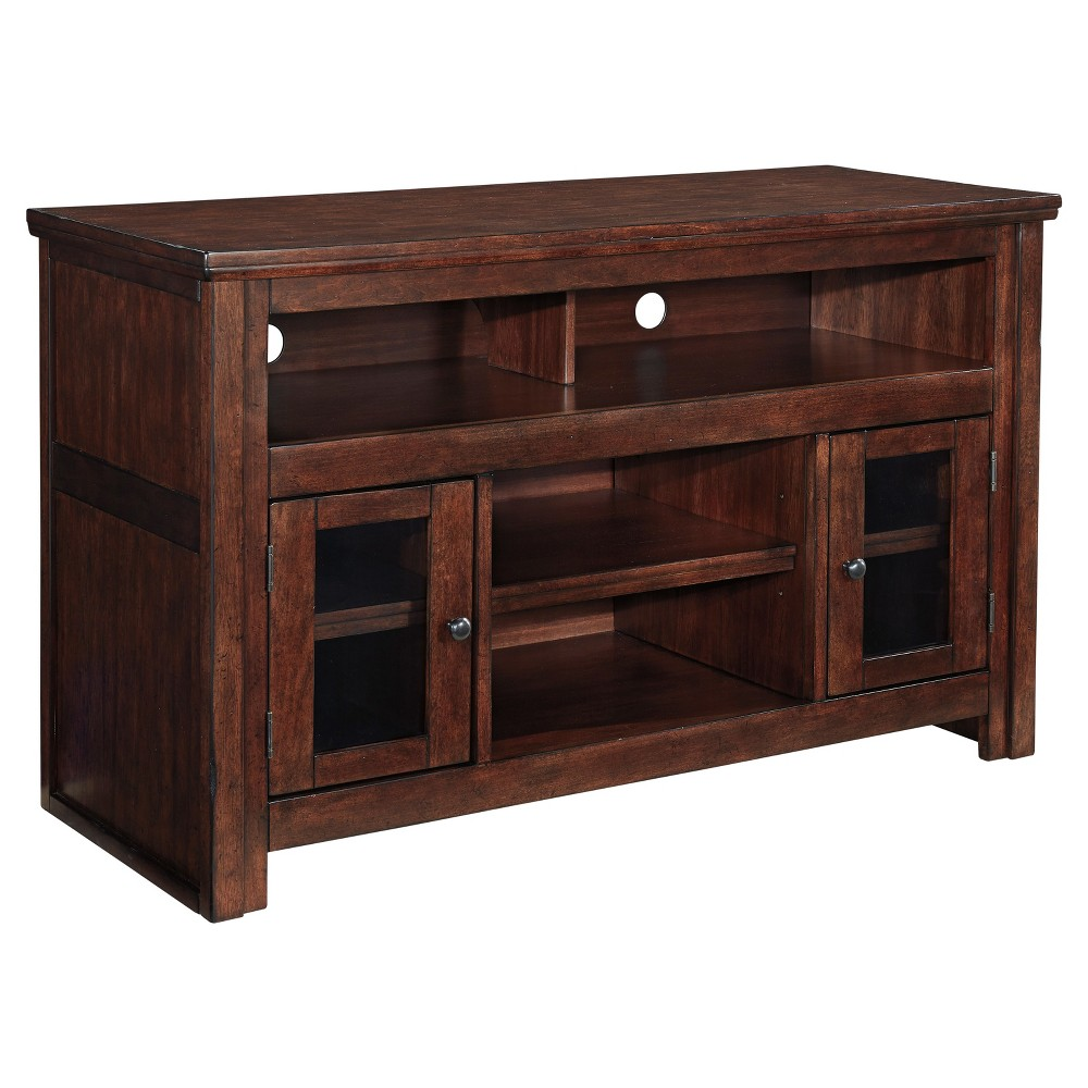 Harpan Reddish Brown - Medium TV Stand - Signature Design by Ashley, Auburn