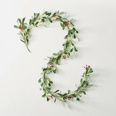 6' Faux Mistletoe Plant Garland - Hearth & Hand™ with Magnolia