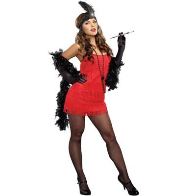 Dreamgirl Basic Flapper Costume (Red)