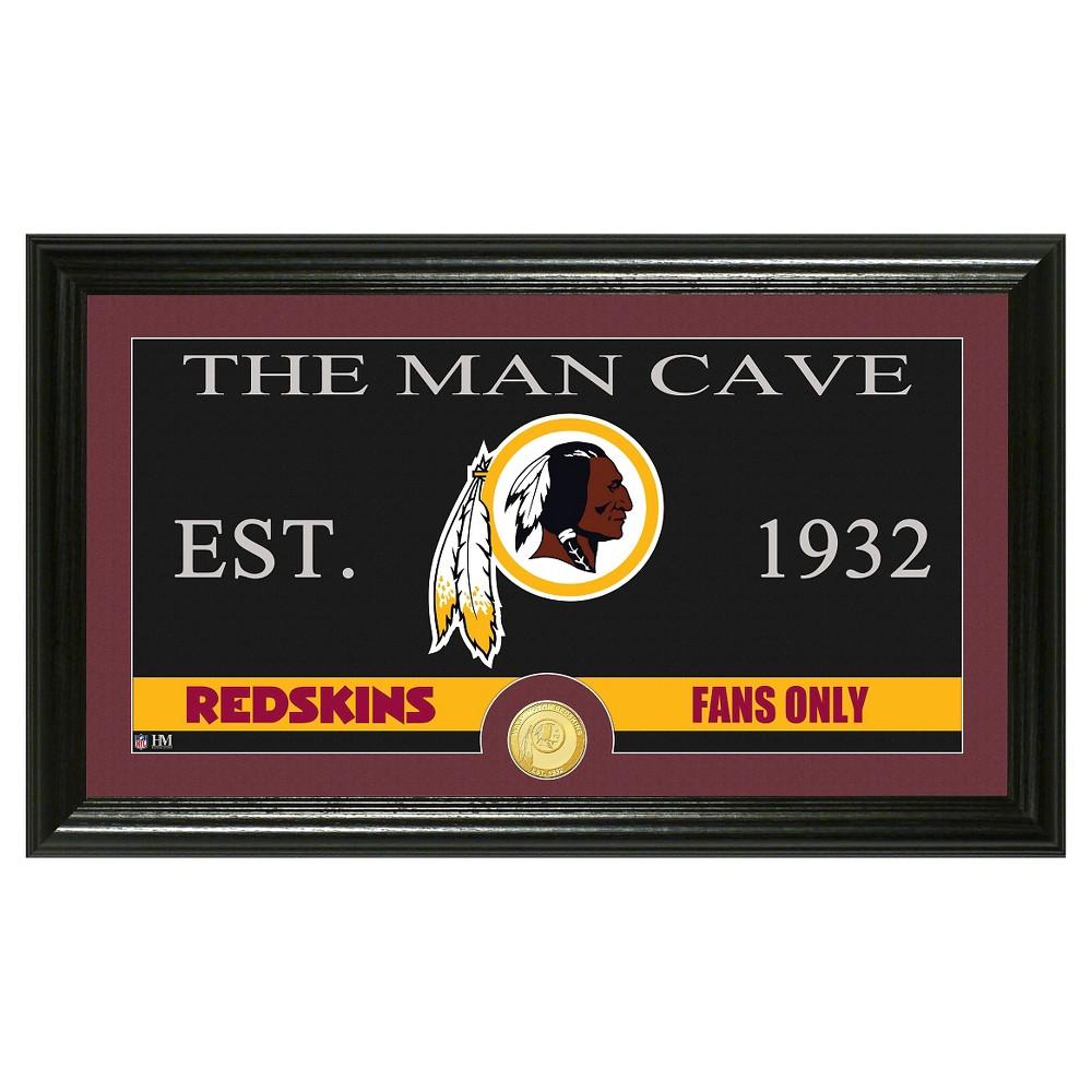The Highland Mint NFL Man Cave Framed Wall Poster Print Washington Redskins