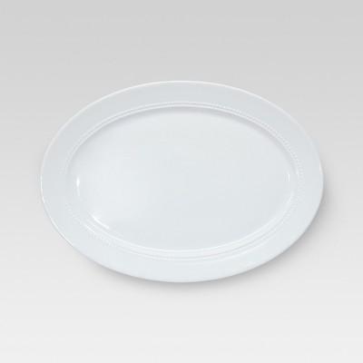 Oval Beaded Serving Platter - Large - Threshold™