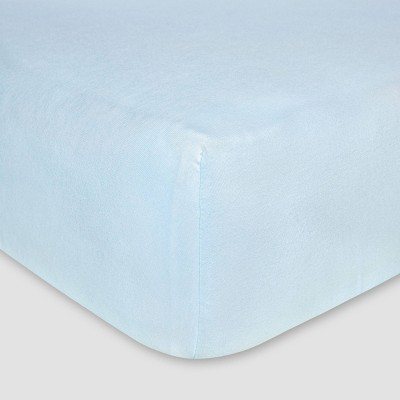 Burt's Bees Baby® Organic Jersey Fitted Crib Sheet - Sky Blue
