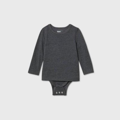 Toddler Boys' Adaptive Long Sleeve Adjustable Bodysuit - Cat & Jack™ Dark Gray
