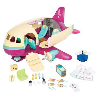 Li'l Woodzeez Toy Airplane with Accessories 35pc - Honeysuckle Airway