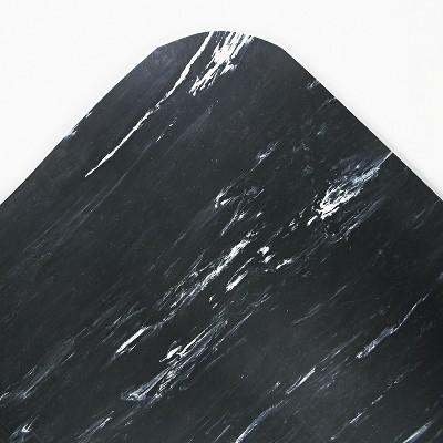 3'x6' Rectangle Solid Floor Mat Black - Crown