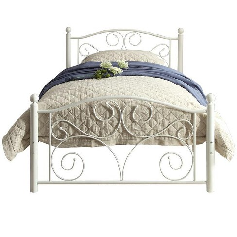 Homelegance Twin Size Pallina Metal, How Tall Is A Twin Bed Frame