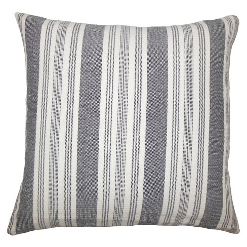 "Gray Stripe Square Throw Pillow (18""x18"") - The Pillow Collection - image 1 of 1"