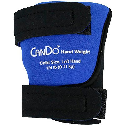 CanDo Palm Weights, Child Size Left Hand, 1/4 pound